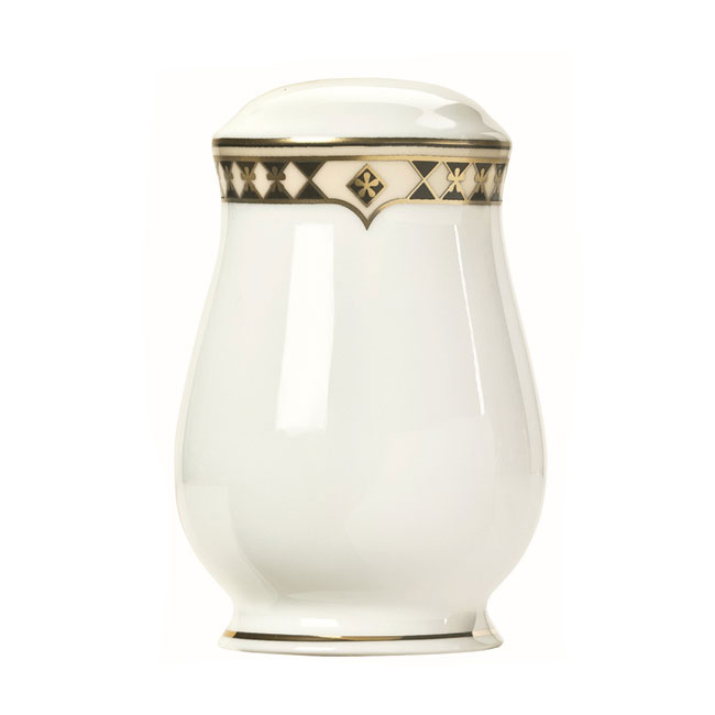 Syracuse China 911191026 Salt Shaker w/ Baroque Pattern & International Shape, Bone China Body