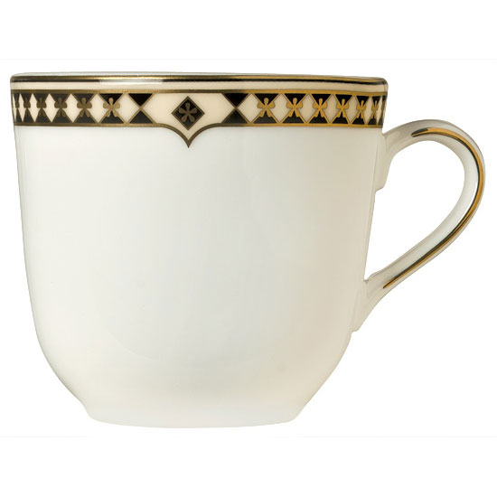 Syracuse China 911191028 8-oz Tea Cup w/ Baroque Pattern & International Shape, Bone China Body