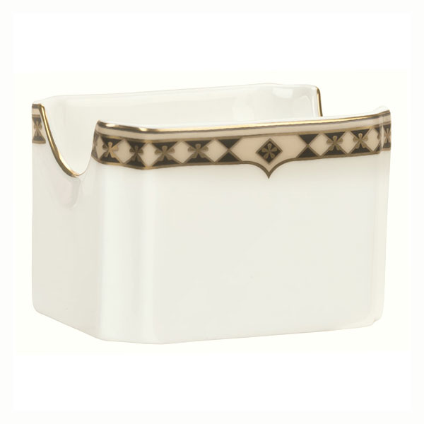 Syracuse China 911191029 Sugar Packet Holder w/ Baroque Pattern & International Shape, Bone China Body