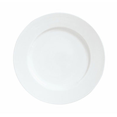 Syracuse China 911194004 9.25-in Plate w/ Reflections Pattern & Shape, Alumawhite Body