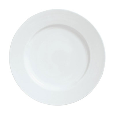 "Syracuse China 911194002 10-7/8"" Reflections Plate - Round, Aluma White"