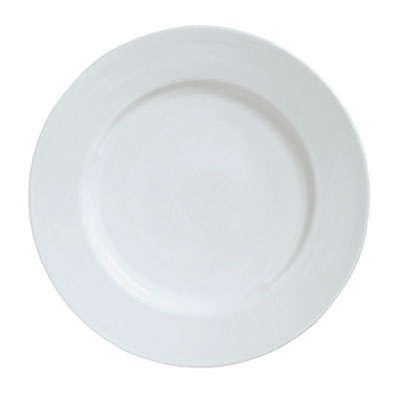 "Syracuse China 911194003 9.88"" Plate w/ Reflections Pattern & Shape, Alumawhite Body"
