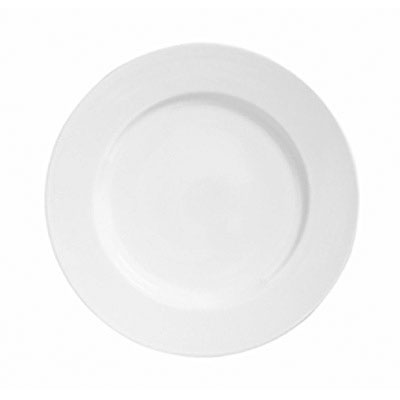 "Syracuse China 911194004 9.25"" Plate w/ Reflections Pattern & Shape, Alumawhite Body"