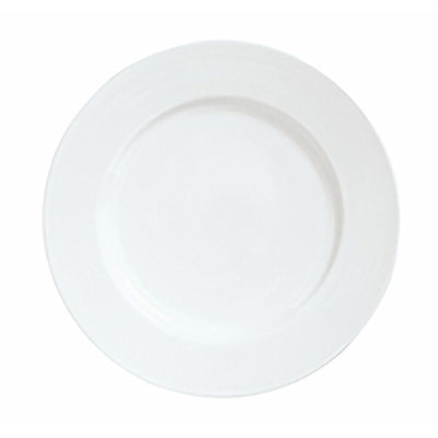 "Syracuse China 911194005 7.62"" Plate w/ Reflections Pattern & Shape, Alumawhite Body"