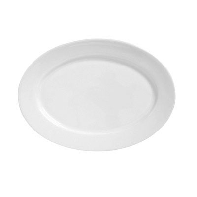 "Syracuse China 911194010 Platter w/ Reflections Pattern & Shape, 10.25x8.37"", Alumawhite Body"