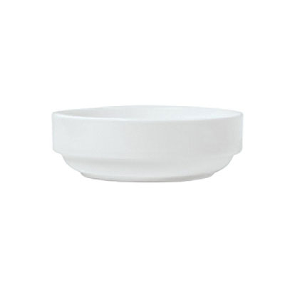 Syracuse China 911194011 13-oz Stackable Bowl w/ Reflections Pattern & Shape, Alumawhite Body