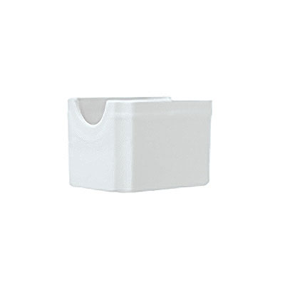 Syracuse China 911194014 Sugar Packet Holder w/ Reflections Pattern & Shape, Alumawhite Body
