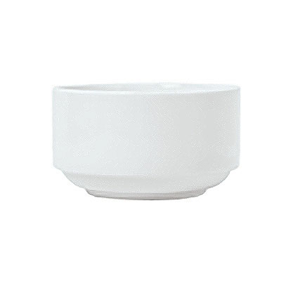 Syracuse China 911194019 11-oz Stacking Bouillon w/ Reflections Pattern & Shape, Alumawhite Body
