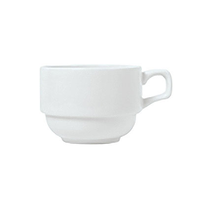 Syracuse China 911194022 4-oz Stacking Espresso Cup w/ Reflections Pattern & Shape, Alumawhite Body