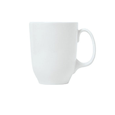 Syracuse China 911194024 12.5-oz Tall Mug w/ Reflections Pattern & Shape, Alumawhite Body