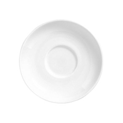 "Syracuse China 911194031 5.88"" Saucer, Coupe, w/ Reflections Pattern & Shape, Alumawhite Body"