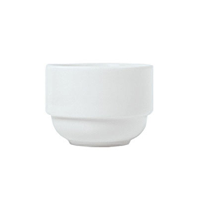 Syracuse China 911194038 8-oz Stackable Bouillon w/ Reflections Pattern & Shape, Alumawhite Body