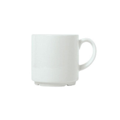 Syracuse China 911194044 9-oz Stacking Mug w/ Reflections Pattern & Shape, Alumawhite Body