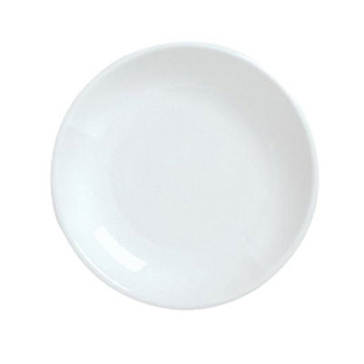 "Syracuse China 911194401 12.12"" Plate, Coupe, w/ Reflections Pattern & Shape, Alumawhite Body"