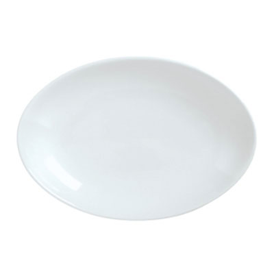 "Syracuse China 911194409 14.12"" Platter, Coupe, w/ Reflections Pattern & Shape, Alumawhite Body"