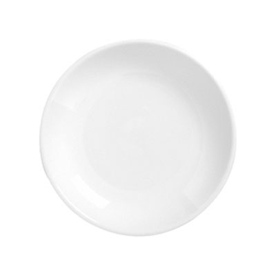 "Syracuse China 911194411 6.25"" Plate, Coupe, w/ Reflections Pattern & Shape, Alumawhite Body"