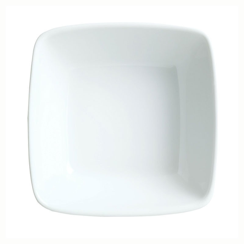 Syracuse China 911194431 13.5-oz Square Bowl w/ Reflections Pattern & Shape, Alumawhite Body