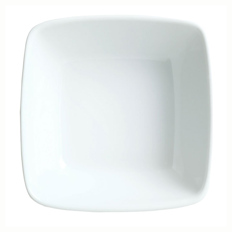 Syracuse China 911194433 4.75-oz Square Bowl w/ Reflections Pattern & Shape, Alumawhite Body