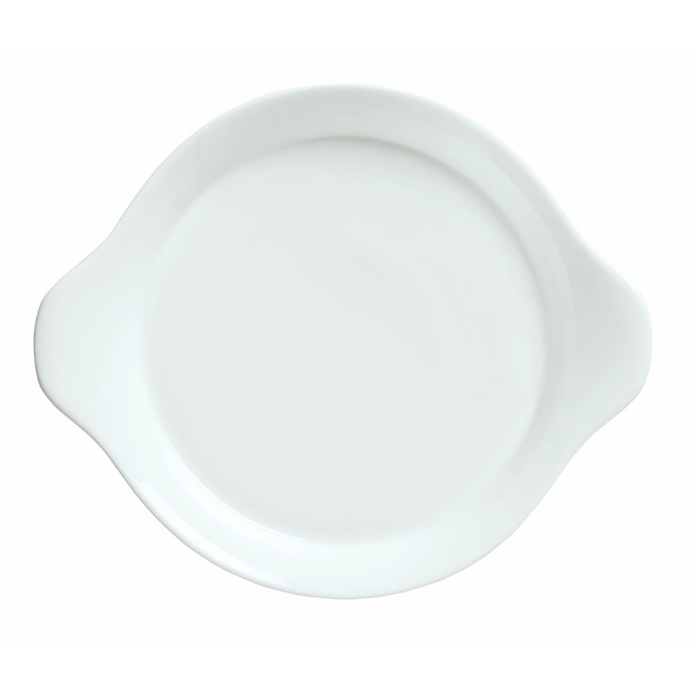 "Syracuse China 911194442 12"" Handled Dish w/ Reflections Pattern & Shape, Alumawhite Body"