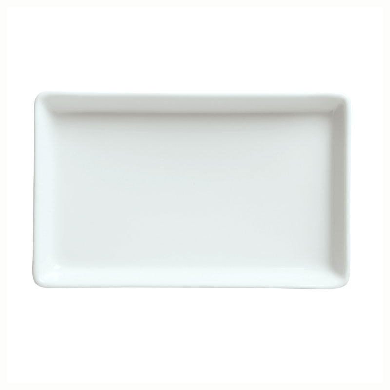 Syracuse China 911194482 Tray w/ Reflections Pattern & Shape, Alumawhite, 6.25x4-in
