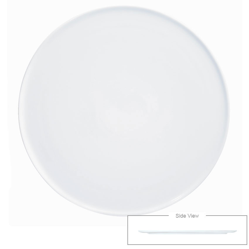 Syracuse China 911194483 Round Plate Tray w/ Narrow Rim, Reflections Pattern & Shape, Alumawhite Body