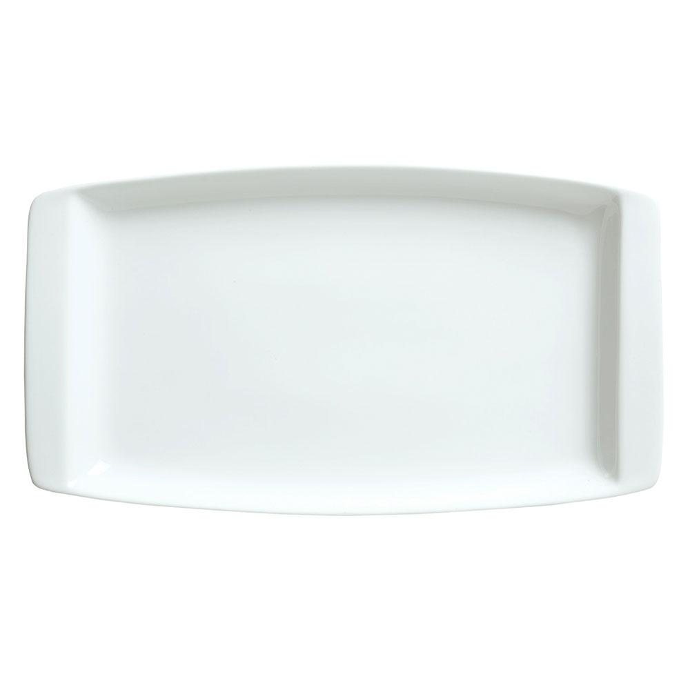 "Syracuse China 911194491 13.25"" Handled Platter w/ Reflections Pattern & Shape, Alumawhite Body"