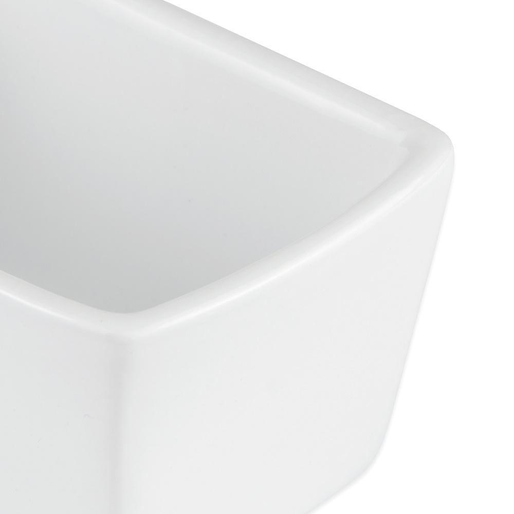 """Syracuse China 911194504 4-1/2"""" Reflections Sugar Packet Holder - Rectangular, Aluma White"""
