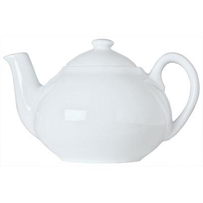 Syracuse China 911194505 14-oz Reflections Tea Pot - Knob Lid, Loop Handle, Aluma White