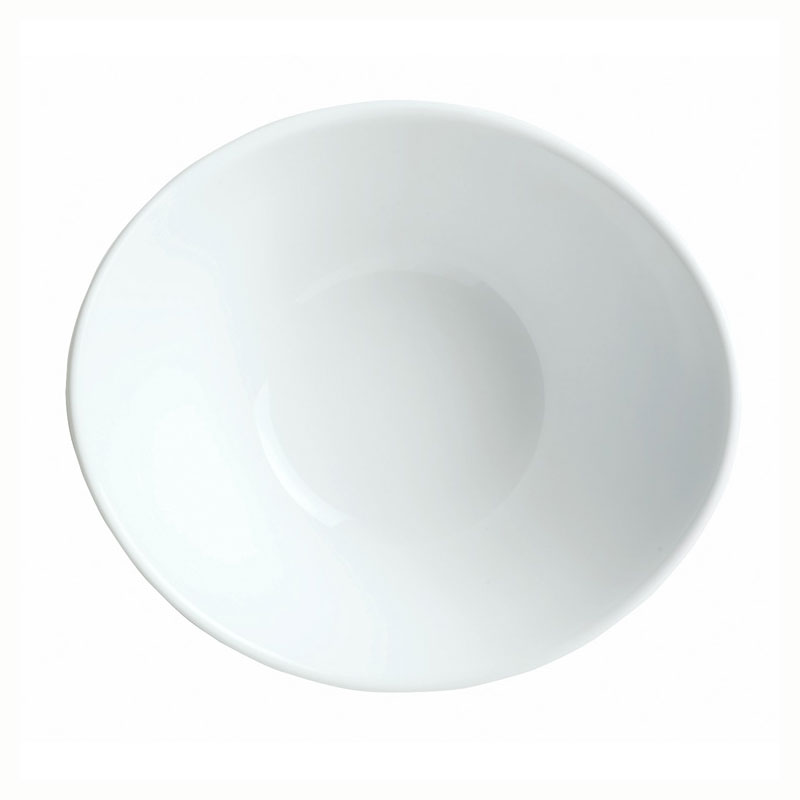 "Syracuse China 911194601 5.12"" Infinity Bowl w/ Reflections Pattern & Shape, Alumawhite Body"