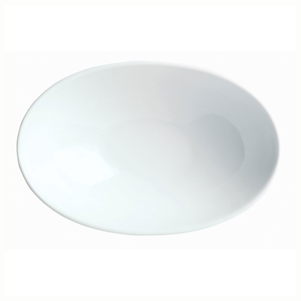 "Syracuse China 911194603 8.25"" Infinity Bowl w/ Reflections Pattern & Shape, Alumawhite Body"