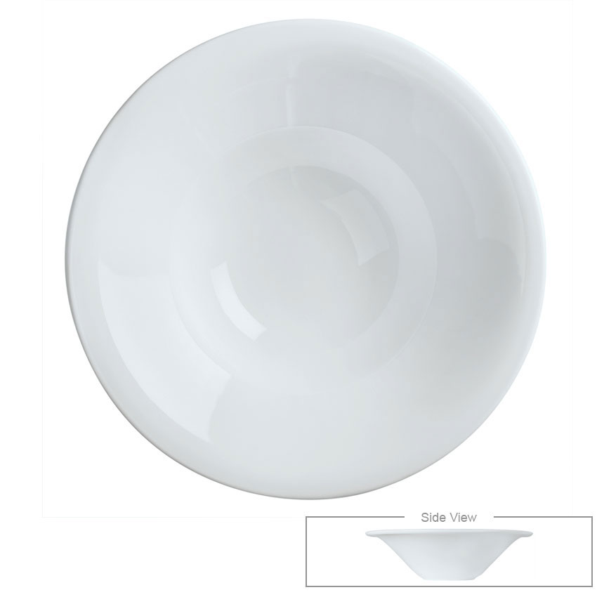 Syracuse China 911194700 9-oz Reflections Soup Bowl - Round, Aluma White