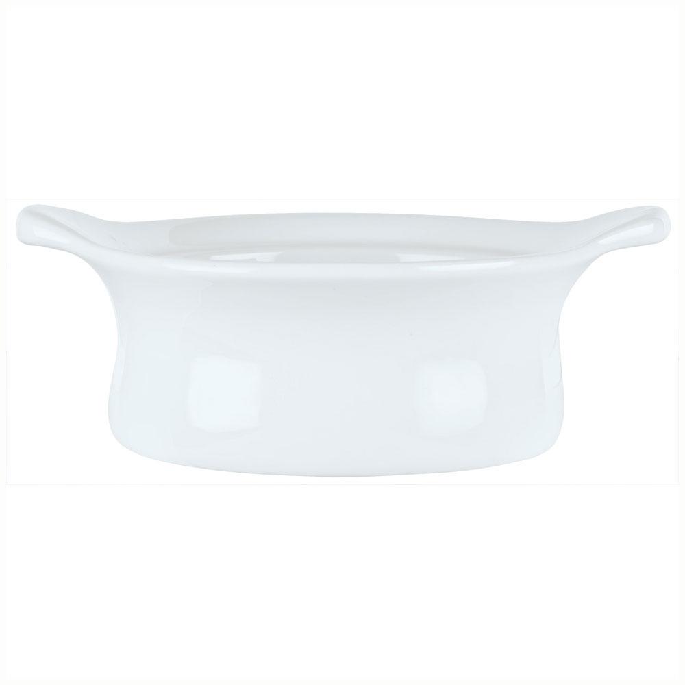 Syracuse China 911194802 9-oz Chef's Selection Casserole Dish - Round, Aluma White