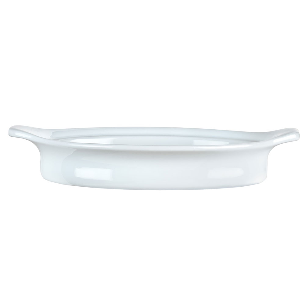 Syracuse China 911194804 8-oz Chef's Selection Rarebit Dish - Oval, Aluma White