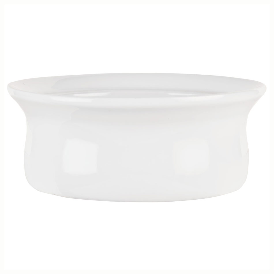 Syracuse China 911194808 11-oz Chef's Selection Casserole Dish - Round, Aluma White