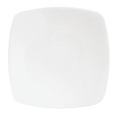 """Syracuse China 911195002 10.5"""" Plate w/ Contempra Pattern & Square Shape, Bone China Body"""
