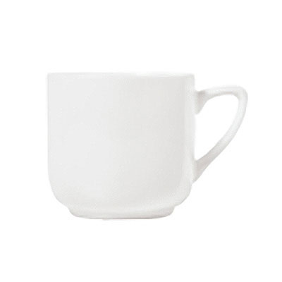 Syracuse China 911195009 10-oz Tea Cup w/ Contempra Pattern & Square Shape, Bone China Body