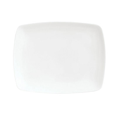 Syracuse China 911195012 Platter w/ Contempra Pattern & Square Shape, Bone China Body, 10.12x7.75-in