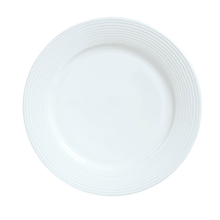 """Syracuse China 911196003 9.88"""" Plate w/ Repetition Pattern & Shape"""