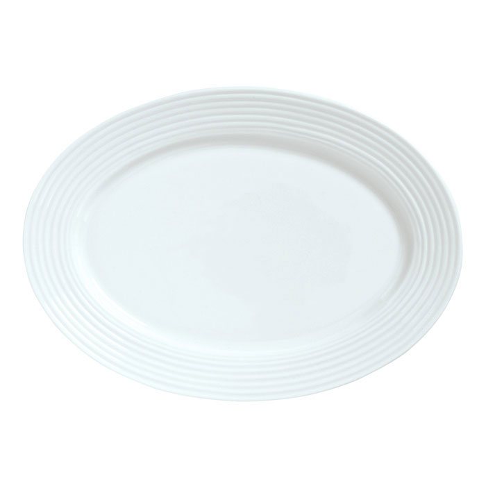 Syracuse China 911196008 14.5-in Platter w/ Repetition Pattern & Shape