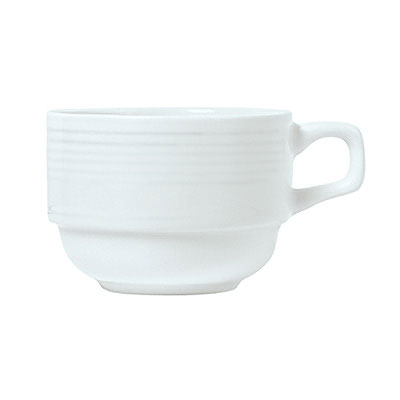 Syracuse China 911196016 8-oz Stackable Tea Cup w/ Repetition Pattern & Shape