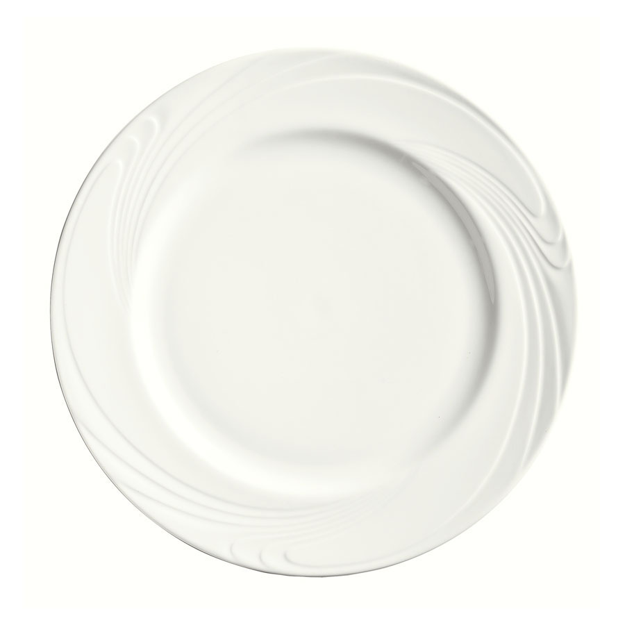 "Syracuse China 911892003 9-7/8"" Ocean Shore Plate - Round, Glazed, Aluma White"