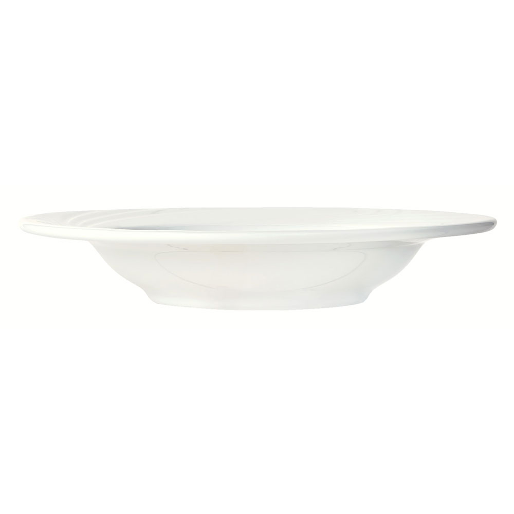 Syracuse China 911892007 12-oz Ocean Shore Rim Soup Bowl - Round, Glazed, Aluma White