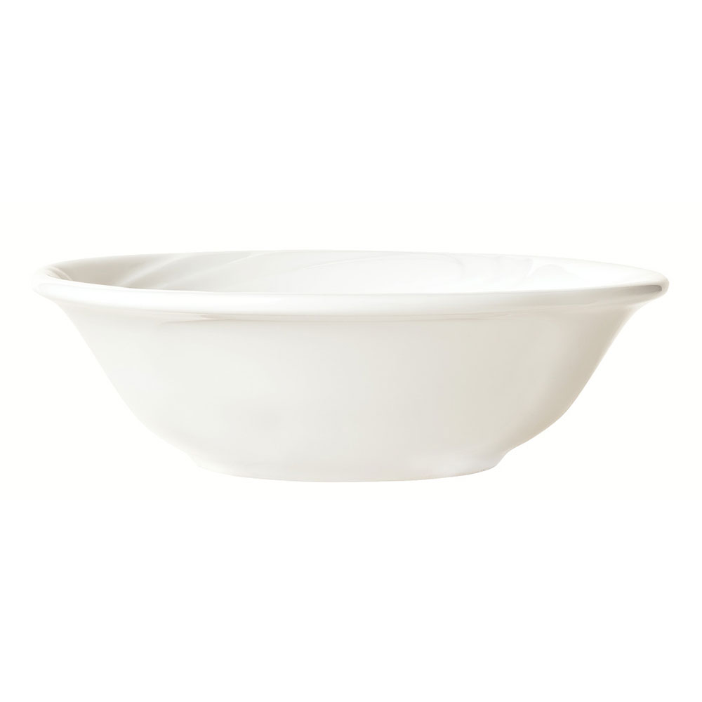 Syracuse China 911892028 5-oz Ocean Shore Fruit Bowl - Round, Glazed, Aluma White