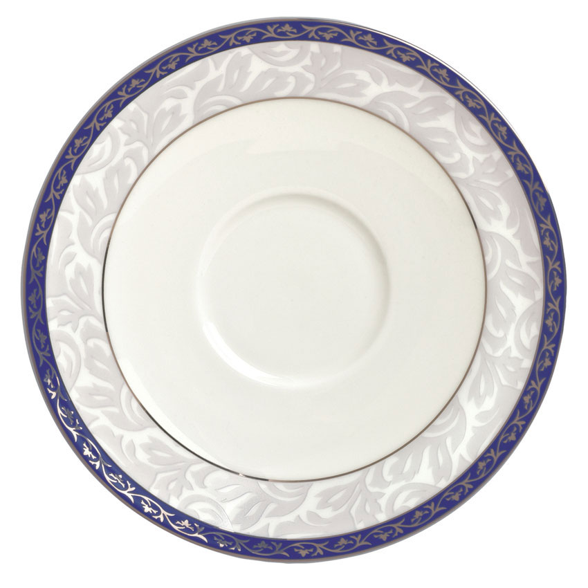 "Syracuse China 912345012 6"" Scarborough Saucer - Round, Glazed, White"