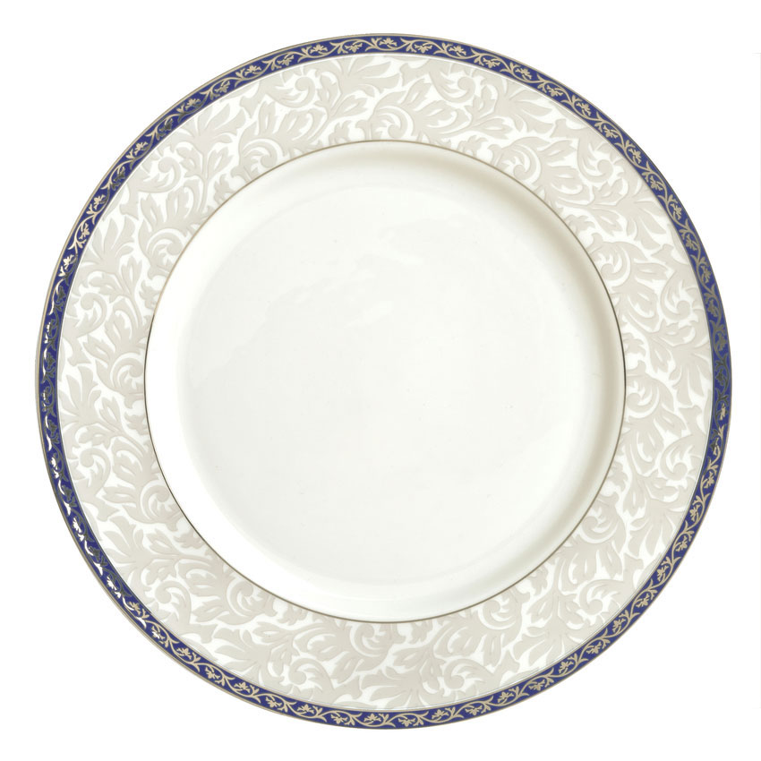 "Syracuse China 912345020 12-1/4"" Scarborough Plate - Round, Glazed, White"