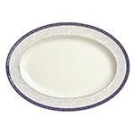 "Syracuse China 912345023 10-1/4"" Scarborough Platter - Oval, Glazed, White"