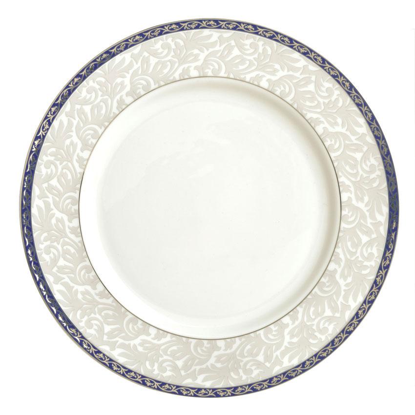 """Syracuse China 912345033 9"""" Scarborough Plate - Round, Glazed, White"""