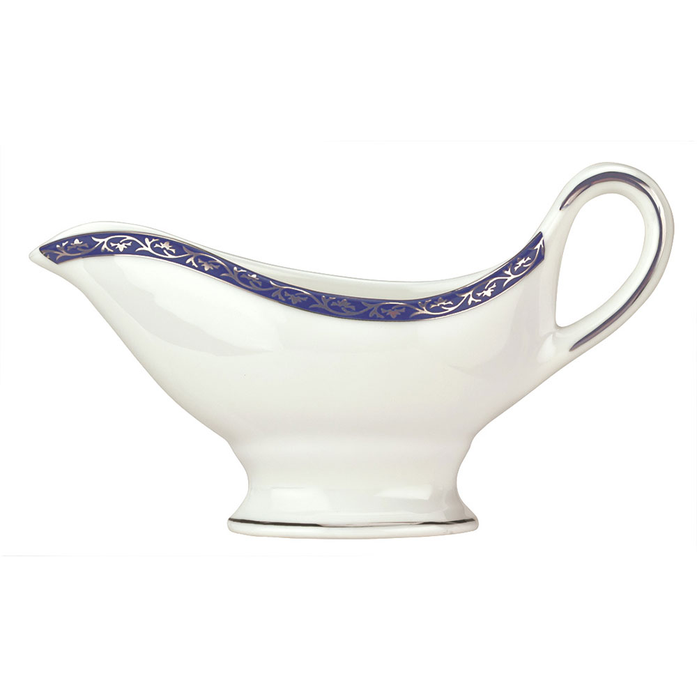 Syracuse China 912345034 6-oz Scarborough Sauce Boat - Glazed, White