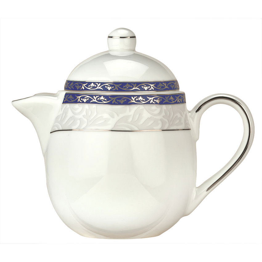 Syracuse China 912345040 15-oz Scarborough Tea Pot - Lid, Glazed, White