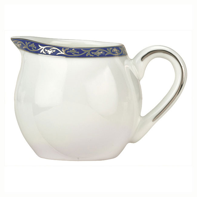 Syracuse China 912345077 3-oz Scarborough Creamer - Glazed, Handle, White